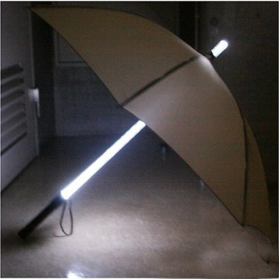 Dearilin Economic LED luminous umbrella stick luminous umbrella new fashion umbrella luminous umbrella flashlight umbrella Pink