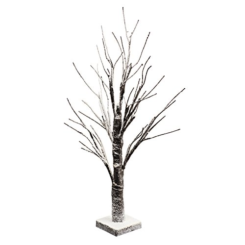 Perfect Life Ideas 24 Inch Snow Covered Lighted Tree - Mu...