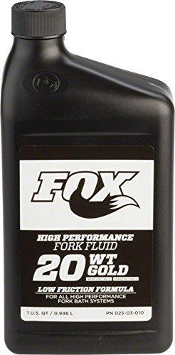 FOX Racing Shox Suspension Fluid - 32oz. Gold, 20wt. for FIT and Open Damper Cartridge (Damper Racing)