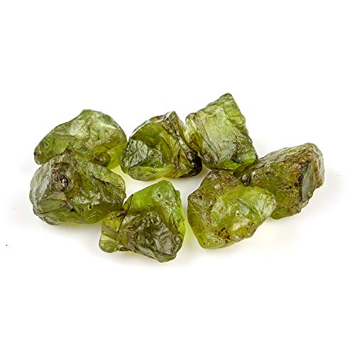 (Jaguar Gems 50 Carats Natural Rough Peridot Stone Raw Crystals Supply for Jewelry Making Gemstone & Crystals Lot Healing Crystals | August Birthstone | 5-15mm)