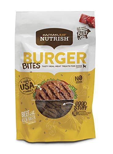- Rachael Ray Nutrish Burger Bites Dog Treats, Beef Burger With Bison Recipe, Grain Free, 12 Oz.