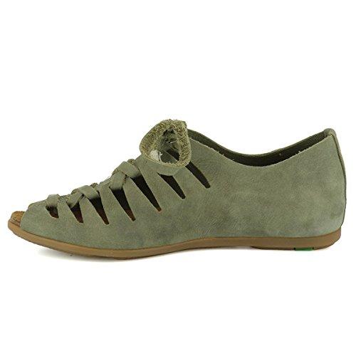 El Naturalista Womens ND52 Stella Leather Sandals Khaki