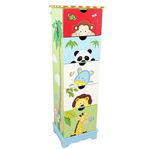 Fantasy Fields - Sunny Safari 5 Drawer Cabinet by Teamson Design Corp