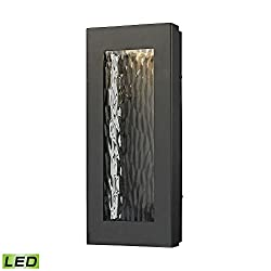 Elk 45190led Jeremy Outdoor Wall Sconce, 1-light Led 6 Watts, Matte Black