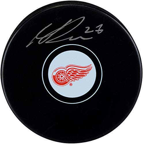 Michael Rasmussen Detroit Red Wings Autographed Hockey Puck - Fanatics Authentic Certified - Autographed NHL Pucks