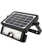 Nova Line SFL50 Faretto LED Solare con Sensore di Movimento Crepuscolare 5W, 500lm, IP65, 6000K