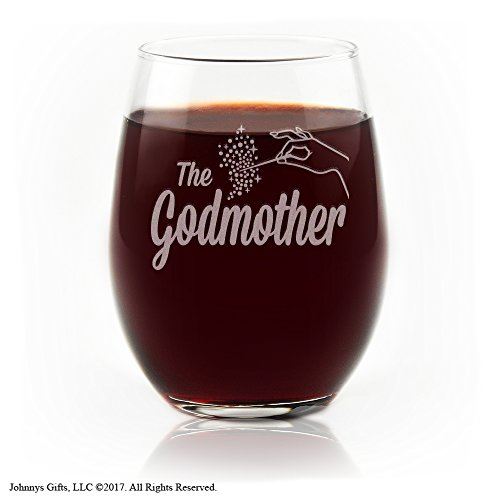 Movies On Glass - The Fairy Godmother Stemless Wine Glass