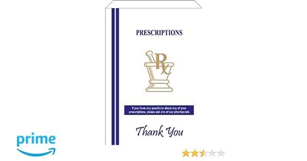 Paper Pharmacy Bags 100pcs Medical Green Cross 10x5x2