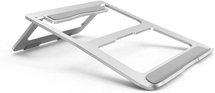 SHILIU Soporte Ajustable De Aluminio para Computadora Portátil Soporte Ajustable Compatible con Apple Mac Macbook Pro Air Escritorio De Oficina Portátil De 10 A 15.6 Pulgadas, Metal Plateado: Amazon.es: Hogar