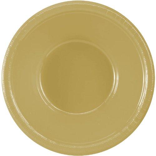 Amscan 43034.19 Plastic Bowls, 12oz, Gold Sparkle]()