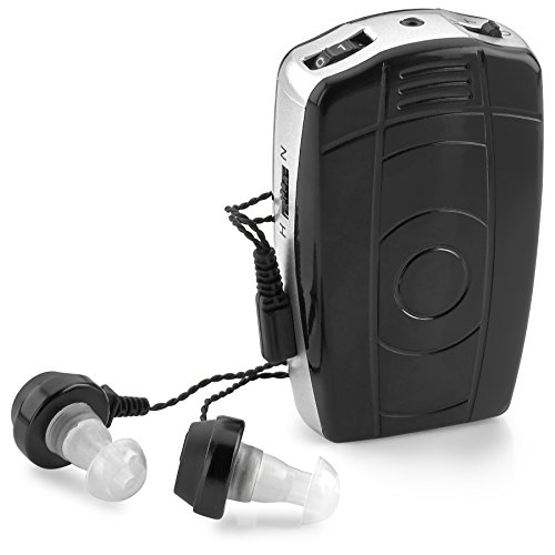 Digital Personal Sound and Voice Amplifier - Pocket Sound by MEDca with Single Ear and Double Ear Headphone Earbuds with Microphones The Best Hearing for Adults or Listening Device by MEDca