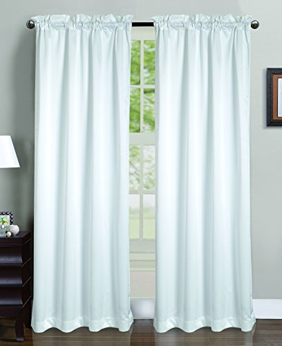 RT Designers Collection Lavon Crushed Satin 54 x 84 in. Rod Pocket Curtain Panel, White ()