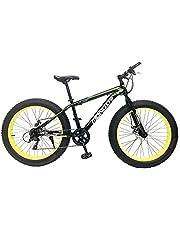 MONDSHI Unisex Adult RBY54 Phat Wheel Bike - Black/Lime, 26 inch