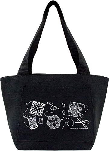 Quilt Happy Petite Project Black Bag