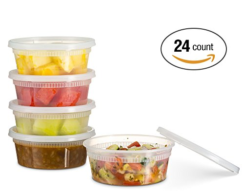 kitchen storage containers buy online basix deli food storage container with lids 8 ounce 24 8617