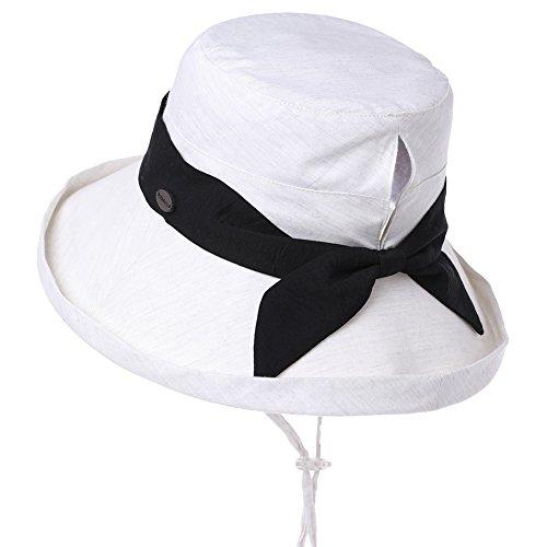 Womens Sun UV Protection Hats Cap Wide Brim Summer Garden Shade Fishing Hunting Hat Crushable Beige Siggi ()