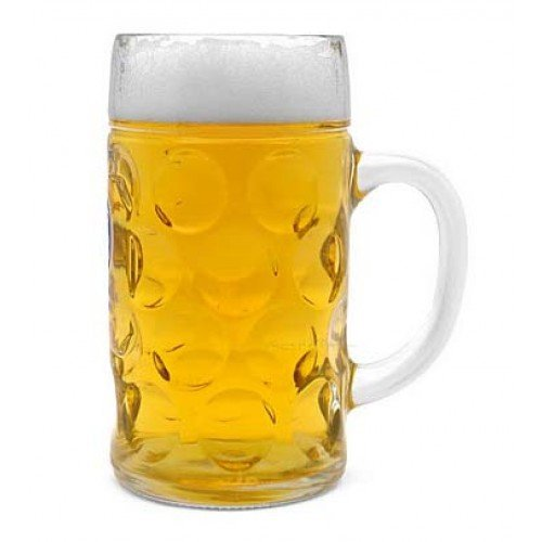 Libbey-Borgonovo-Oktoberfest-Glass-Masskrug-Dimpled-Glass-Beer-Stein-Mug