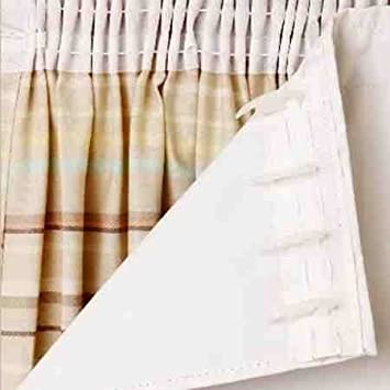 Pair of Thermal Insulated 3 Pass Blackout Curtain Linings 90