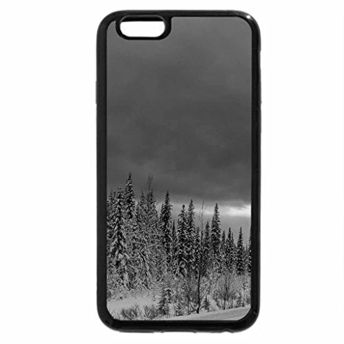iPhone 6S Plus Case, iPhone 6 Plus Case (Black & White) - road in a wonderful winter scene