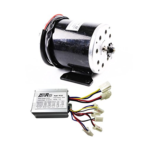 Power Sports Galaxy 36V 500W Brushed Speed Motor Controller Set for Electric Moped Scooter ATV Mini Bike by Power Sports Galaxy
