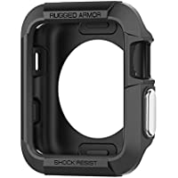 Rugged Armor Apple Watch Case with Resilient Shock Absorption for 42mm Apple Watch Series 3 / Series 2 / 1 / Original (2015) - Black