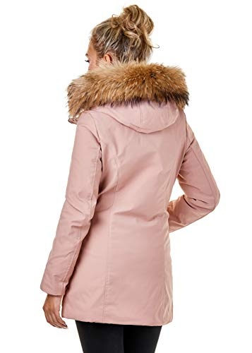 Noir Small Stone Parka Pink Manteau Eightyfive Femme xvqw70gavR