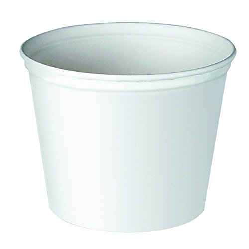 SOLO 10T1-N0198 Unwaxed Double-Wrapped Paper Bucket, 165 oz. Capacity, 8.3'' x 8.8'', White (Case of 100) by Solo Foodservice