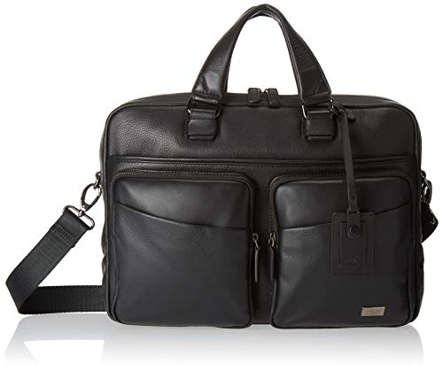 Bric's Torino Leather Laptop|Tablet Business Briefcase, Black, One Size