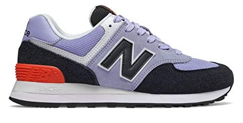 New Balance Women's Iconic 574 V2 Sneaker, Clear Amethyst/Black, 10.5 D US