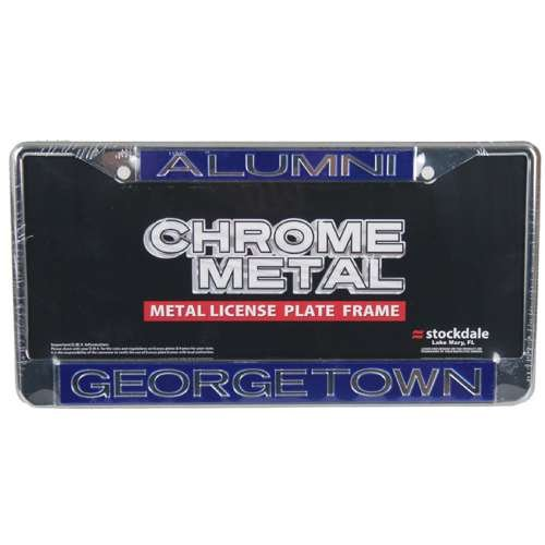 Georgetown Hoyas Metal Alumni Inlaid Acrylic License Plate - Georgetown Gear