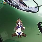 車のアニメの美しさセクシーなJDMアニメ3D窓の車のステッカーの付属品9.7x13cm