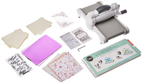 Sizzix Big Shot Starter Kit - Inspired by David Tutera - Machine, Cutting Pads, Multipurpose Platform, Paper, Stamps and Dies - 26 Piece Set from Sizzix