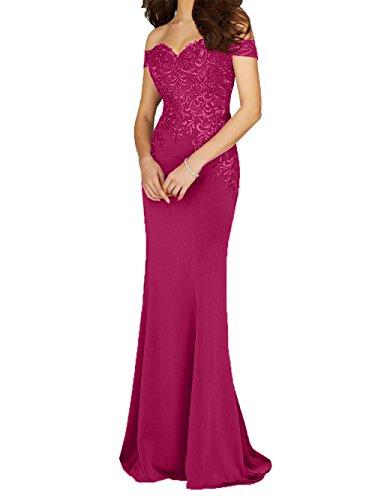 Kurzarm Brautmutterkleider Braut Meerjungfrau Abendkleider Promkleider mia La Hochzeits Fuer mit Pink 2018 Spitze 5PwfwxpXq