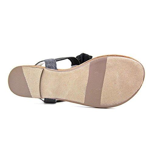 Materiale Ragazza Cigno Open Toe In Sandalo Sintetico Nero