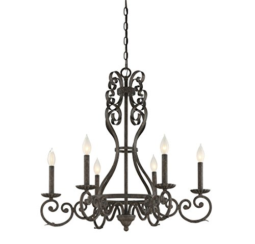 Price comparison product image Savoy House 1-8010-6-64 Bree 6-Light Chandelier in Feildstone