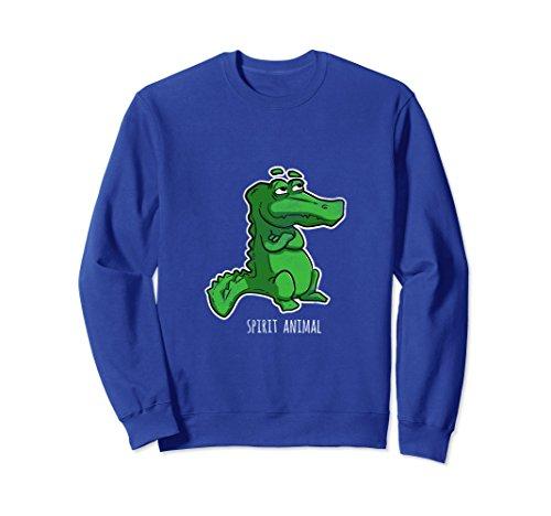Kids Crocodile Hunter Costume (Unisex Alligator Spirit Animal Sweatshirt Gator Crocodile Reptile XL: Royal Blue)
