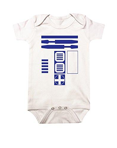 Star Wars R2D2 Baby Bodysuit 6M White
