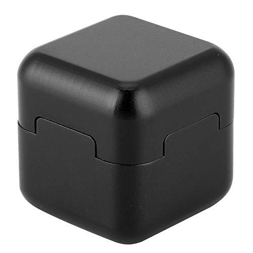 (Aluminum Portable Mini Magnetic Pool Chalk Holder Billiard Chalk Holder for Billiard Cue Snooker Accessory(Black))