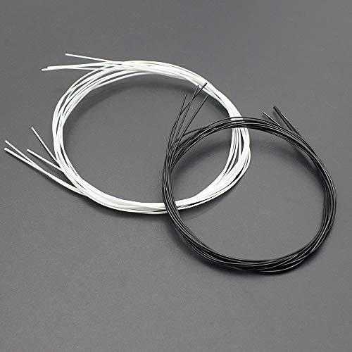 Set Instrument Player (CUSHY Black/White Nylon Ukulele String Durable Accessories for Stringed Instrument Player 4pcs/Set : White)