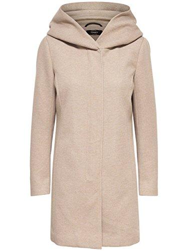 Only Onlsedona Light Melange Coat CC Otw, Abrigo para Mujer Beige (Etherea)