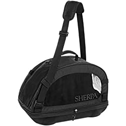 Sherpa Travel Comfort Ride Airline Approved Pet Carrier, Large, Black