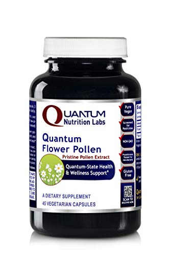 (Quantum Flower Pollen, 45 Vegetarian Capsules - Pristine Pollen Extract from Flower Blossoms for Quantum-State Health and Wellness Support)
