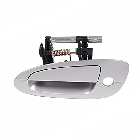 Sentinel Parts 02-06 Nissan Altima Front Left Driver Side Outside Exterior Door Handle KY1 Light Silver (Exterior Doors With Side Lights)