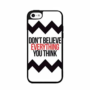Don't Believe Everything You Think Plastic Phone Case Back Cover iPhone 4 4s