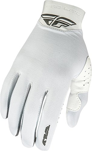 Fly Racing Unisex-Adult Pro Lite Gloves (White, Size (Fly Pro Lite Gloves)
