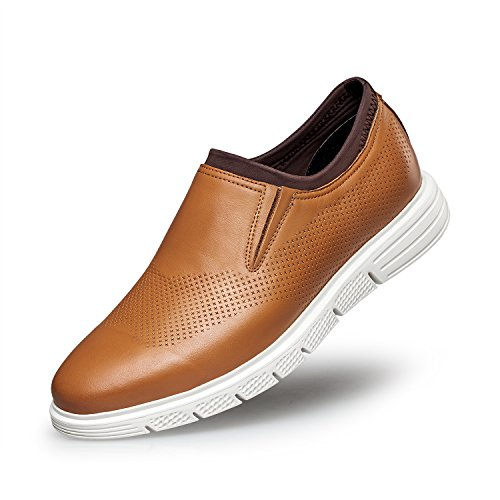 Zro Uomo Slip-on Fashion Sneaker Casual Mocassino Traspirante Marrone
