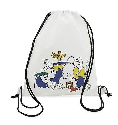 1 Mochila con Cuerdas para Pintar con un pack de 5 Ceras de Colores 25 x 30 cm Regalos infantiles y fiestas