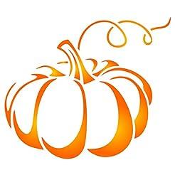 Halloween Pumpkin Stencil - 5.25 x 4.5 i...