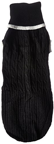 Fashion Pet Lookin Good Classic Cable Sweater for Dogs, Large, Black by Fashion Pet