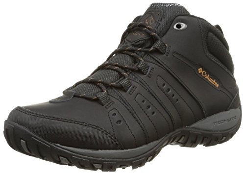 Columbia Peakfreak Nomad WP Omni-Heat, Sneakers da Uomo Nero (Black/Goldenrod 010black/Goldenrod 010)